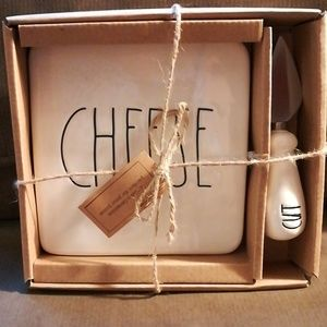 New  in Box Rae Dunn Cheese Board and Cheese Knife